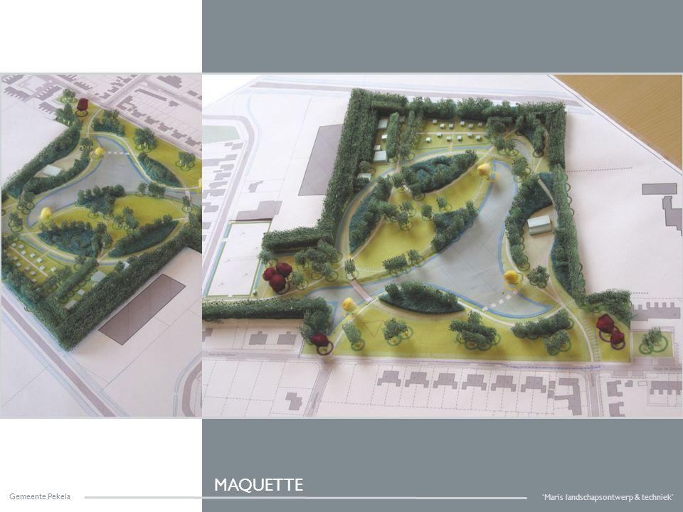 Gemeente Pekela 'Maris landschapsontwerp & techniek' MAQUETTE