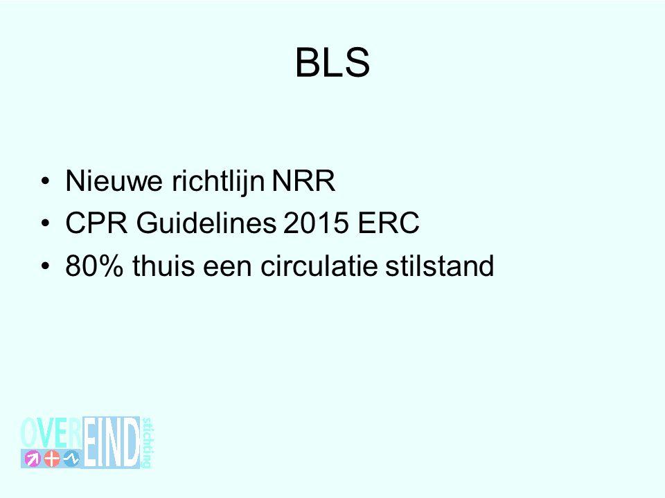 BLS Nieuwe richtlijn NRR CPR Guidelines 2015 ERC 80% thuis een circulatie stilstand