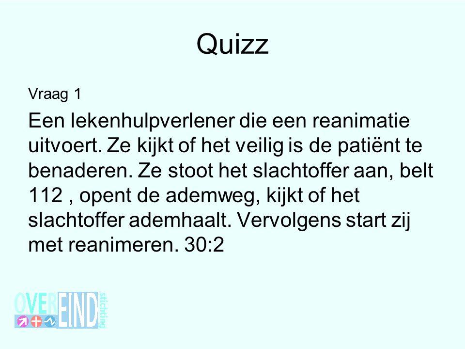 Quizzz juist onjuist Vraag 6 Een lekenhulpverlener moet stoppen met reanimeren wanneer hij of zij een niet- reanimeren penning vindt op het slachtoffer