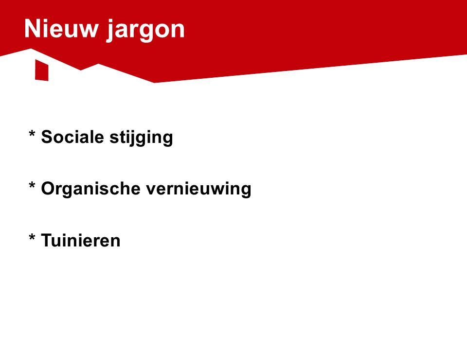 Nieuw jargon * Sociale stijging * Organische vernieuwing * Tuinieren