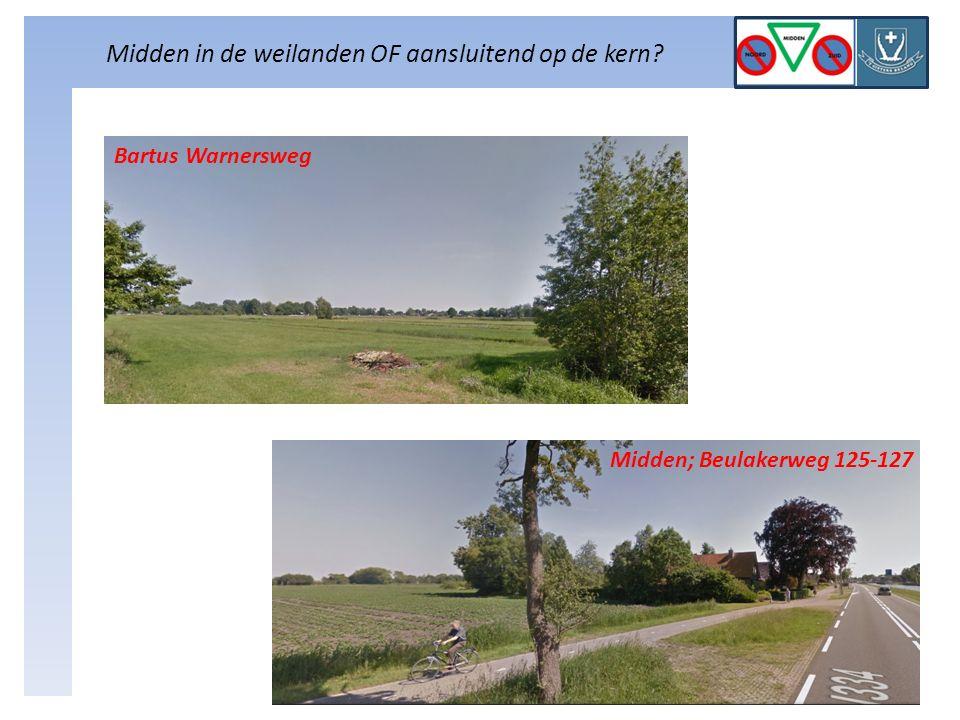 Midden in de weilanden OF aansluitend op de kern Bartus Warnersweg Midden; Beulakerweg 125-127