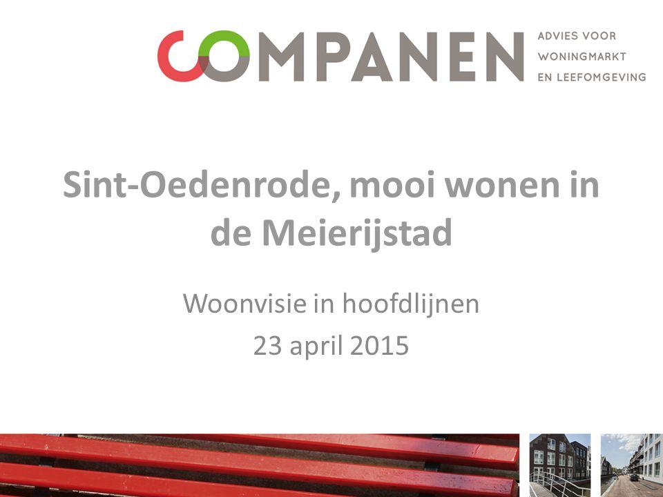 Sint-Oedenrode, mooi wonen in de Meierijstad Woonvisie in hoofdlijnen 23 april 2015