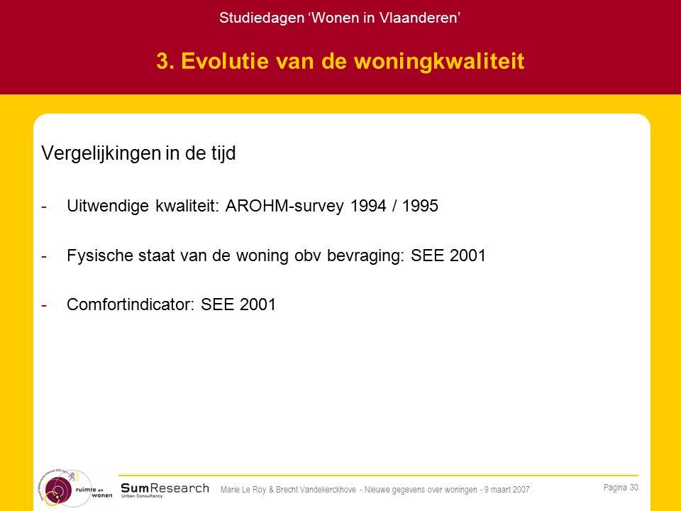 Studiedagen 'Wonen in Vlaanderen' Pagina 30 Marie Le Roy & Brecht Vandekerckhove - Nieuwe gegevens over woningen - 9 maart 2007 3.