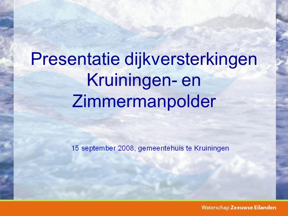 Presentatie dijkversterkingen Kruiningen- en Zimmermanpolder