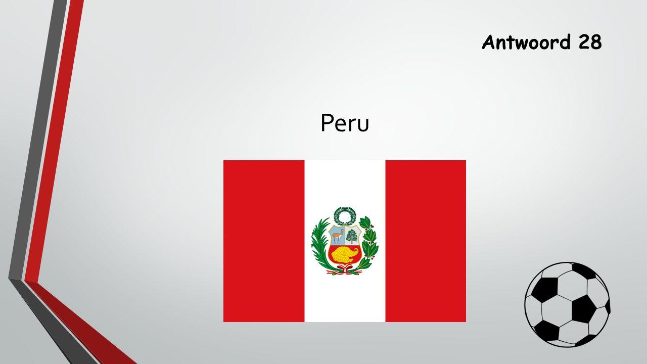 Antwoord 28 Peru