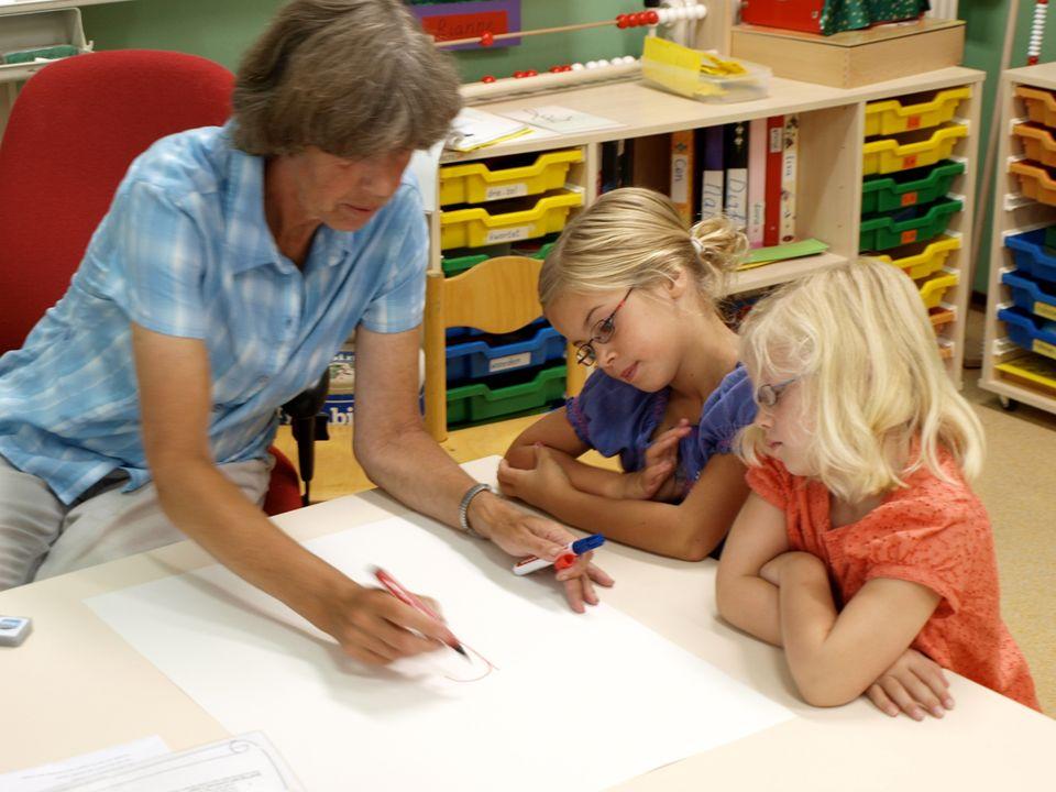 Zie je zelf of een collega als een zorgzame leraar.