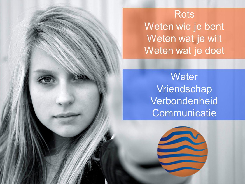 Rots Weten wie je bent Weten wat je wilt Weten wat je doet Water Vriendschap Verbondenheid Communicatie