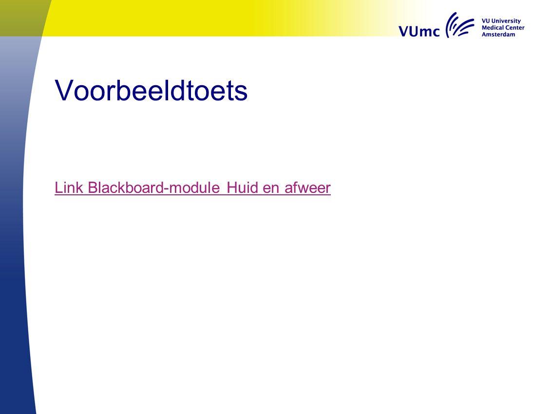 Voorbeeldtoets Link Blackboard-module Huid en afweer