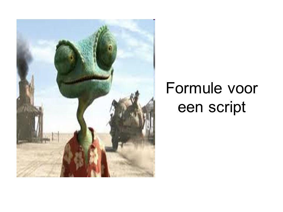 Formule voor een script