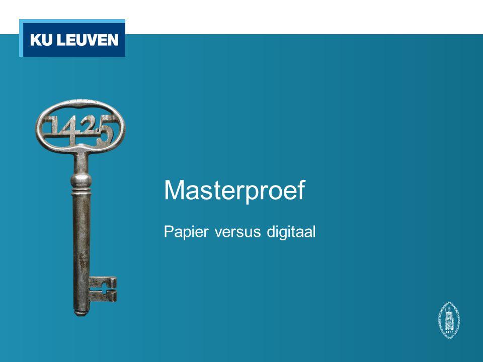 Masterproef Papier versus digitaal