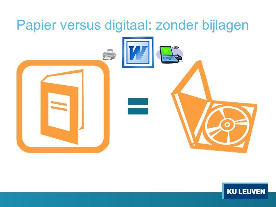 Papier versus digitaal: zonder bijlagen