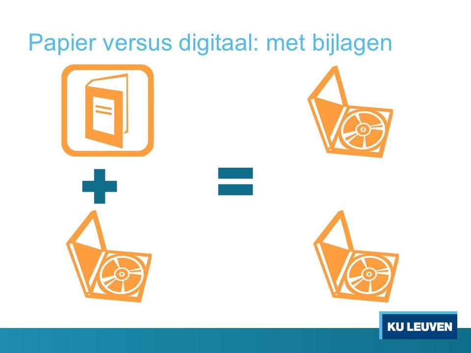Papier versus digitaal: met bijlagen