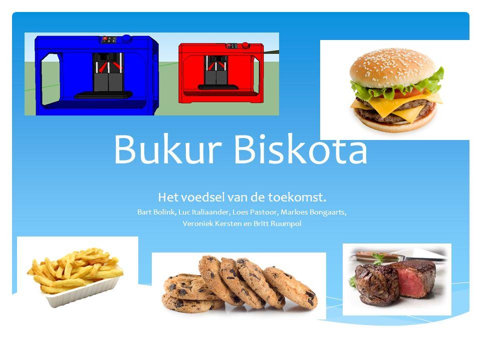 Bukur Biskota Het voedsel van de toekomst.