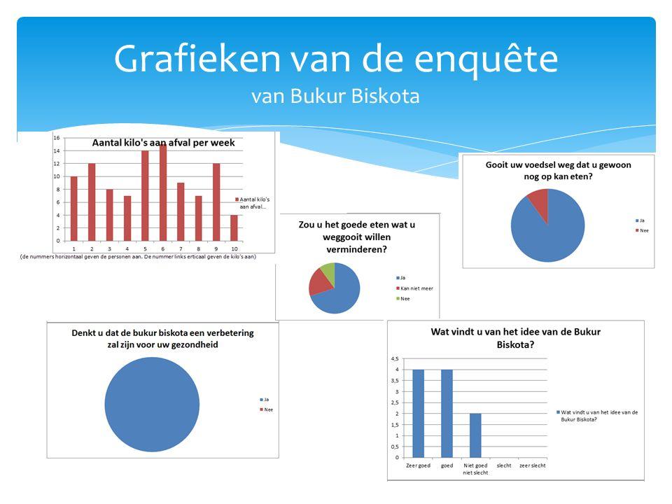 Grafieken van de enquête van Bukur Biskota