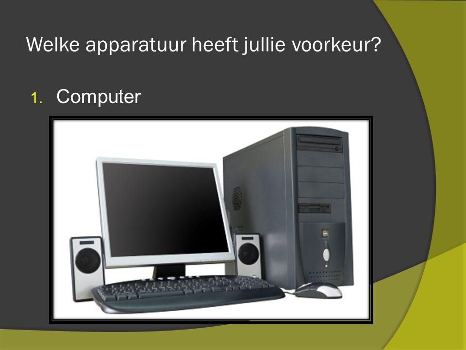Welke apparatuur heeft jullie voorkeur 1. Computer