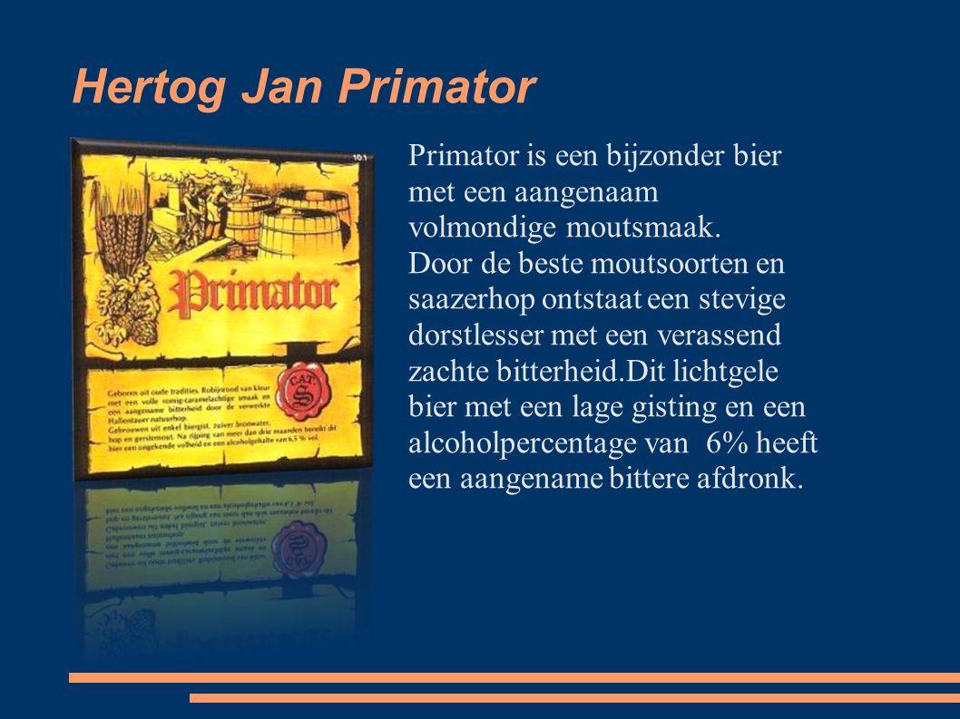 Hertog Jan Primator Primator is een bijzonder bier met een aangenaam volmondige moutsmaak.