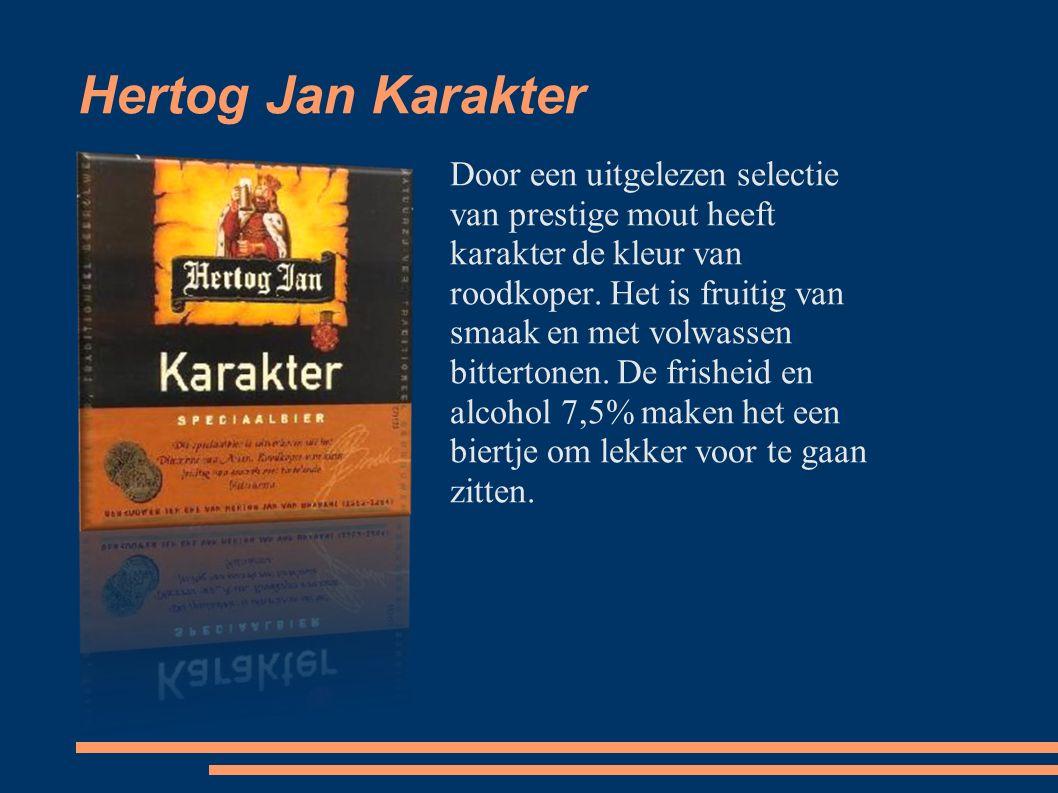 Hertog Jan Karakter Door een uitgelezen selectie van prestige mout heeft karakter de kleur van roodkoper.