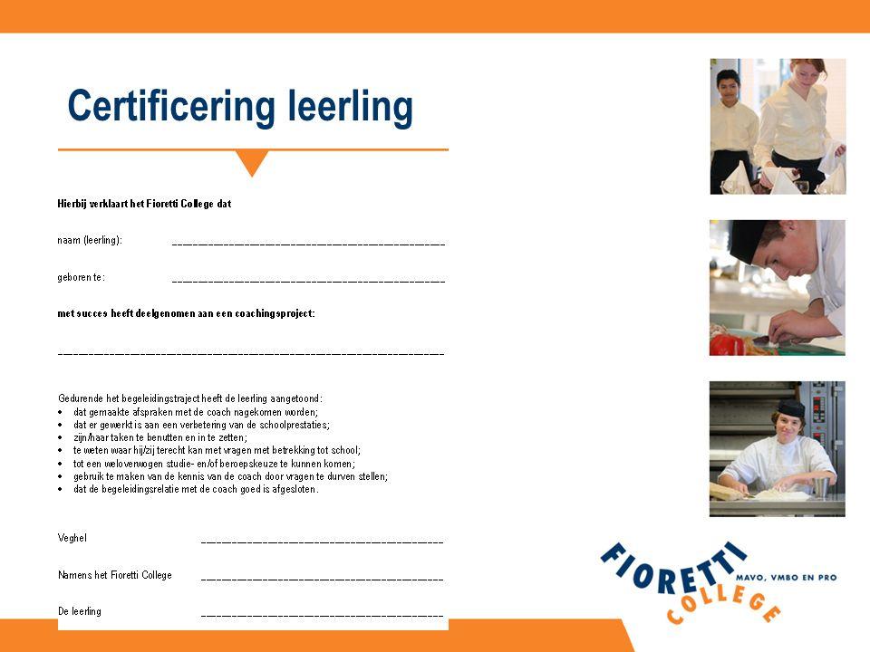 Certificering leerling