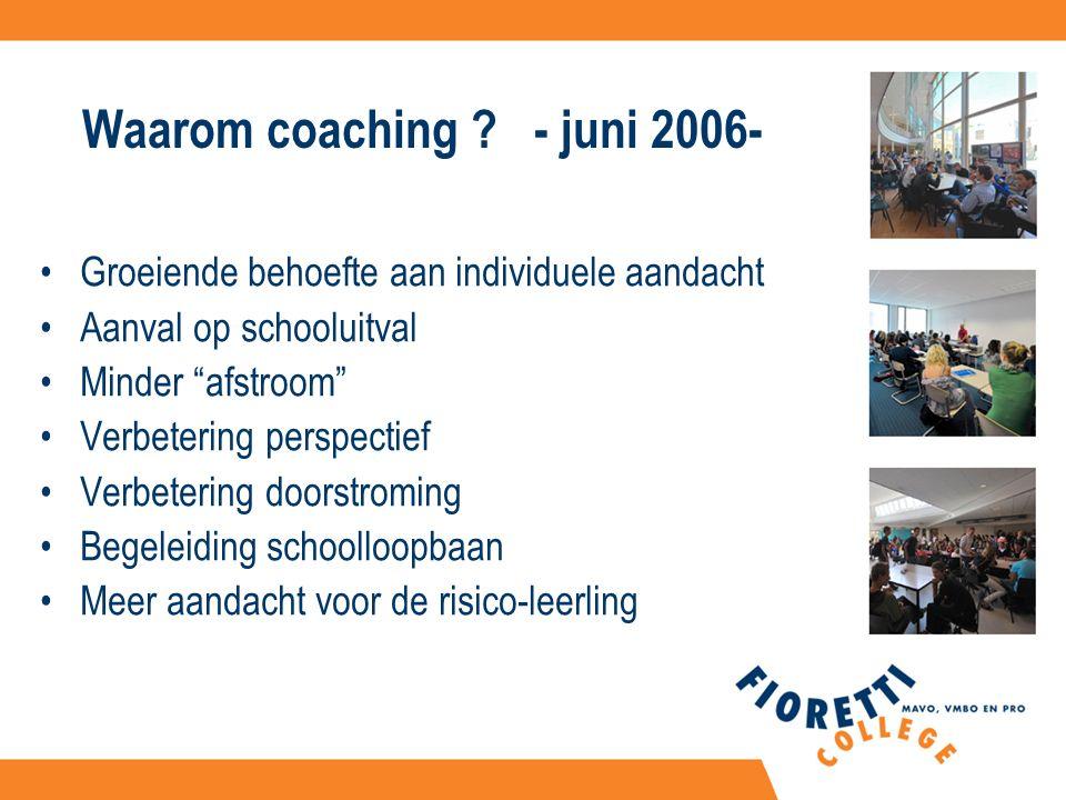 Waarom coaching .