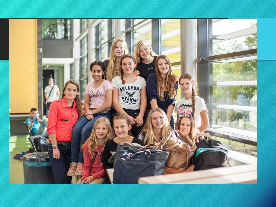 Tijd voor Kennis Vakken: Nederlands, Engels, Duits, wiskunde, lich.oef., muziek, drama, tekenen.