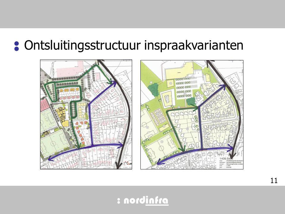 : nordinfra 11 Ontsluitingsstructuur inspraakvarianten :