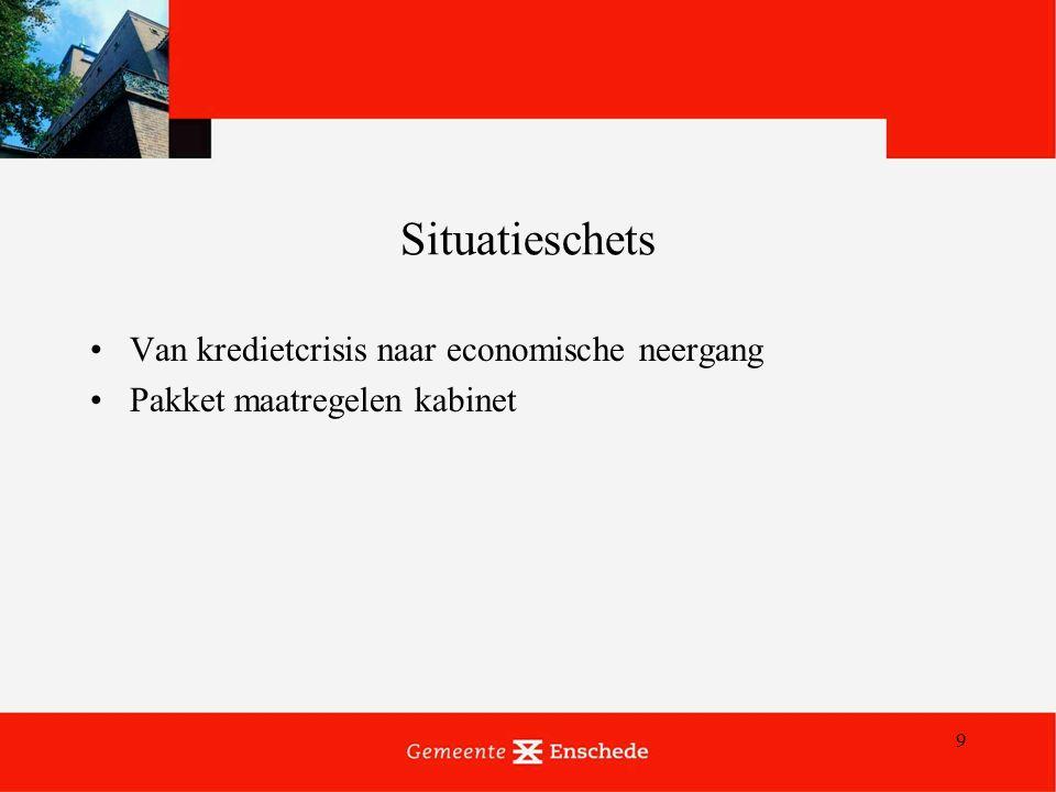9 Situatieschets Van kredietcrisis naar economische neergang Pakket maatregelen kabinet