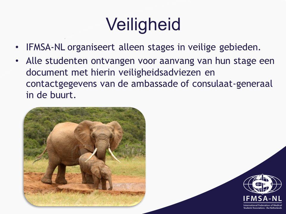 Veiligheid IFMSA-NL organiseert alleen stages in veilige gebieden.