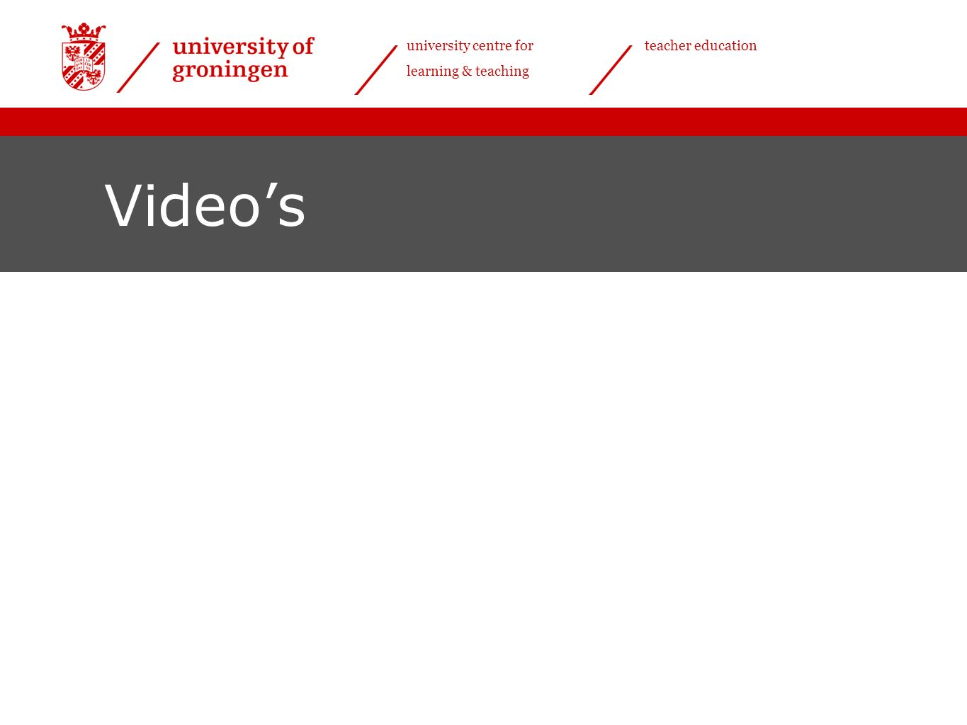 university centre for learning & teaching teacher education Video's