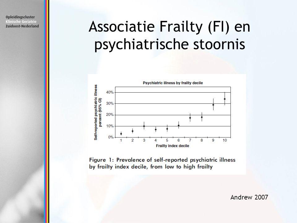 Associatie Frailty (FI) en psychiatrische stoornis Andrew 2007