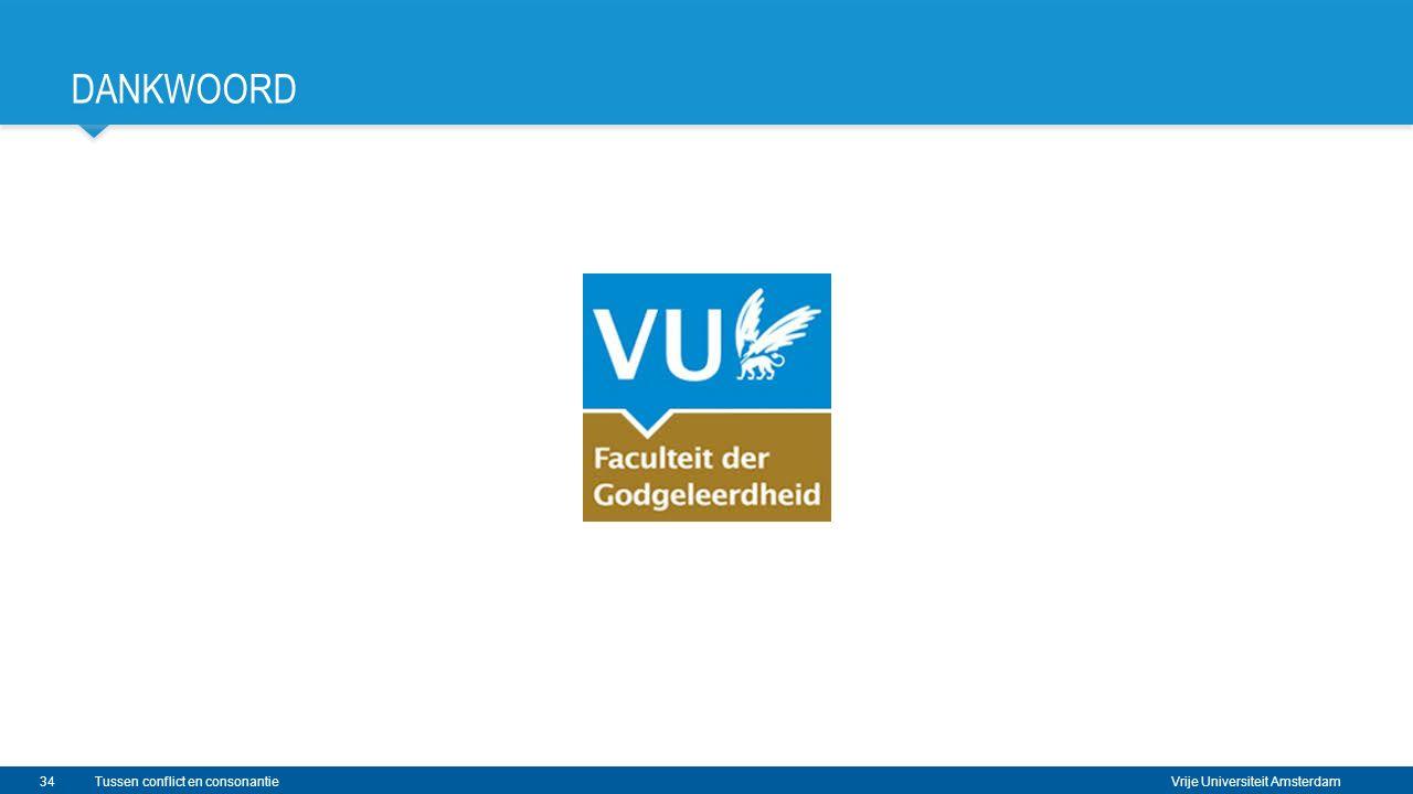 Vrije Universiteit Amsterdam DANKWOORD 34Tussen conflict en consonantie