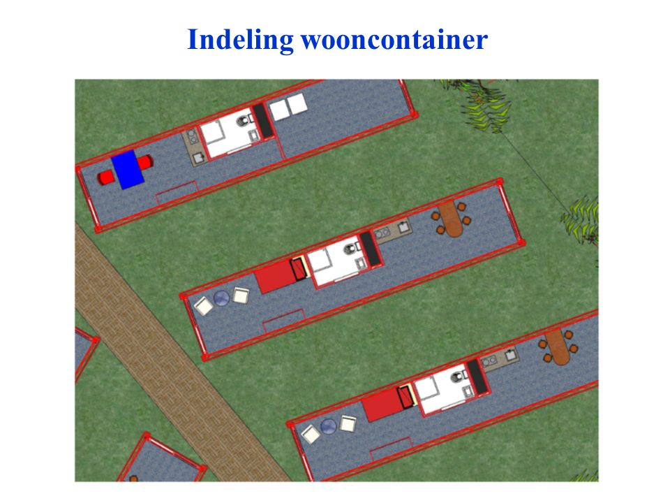 Indeling wooncontainer