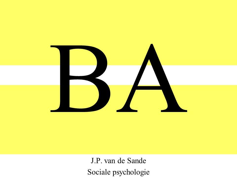 BA J.P. van de Sande Sociale psychologie