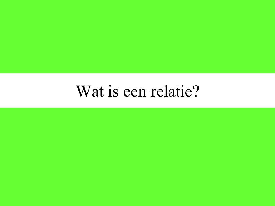 Wat is een relatie