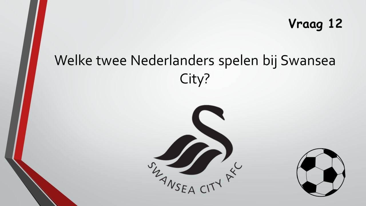 Vraag 12 Welke twee Nederlanders spelen bij Swansea City