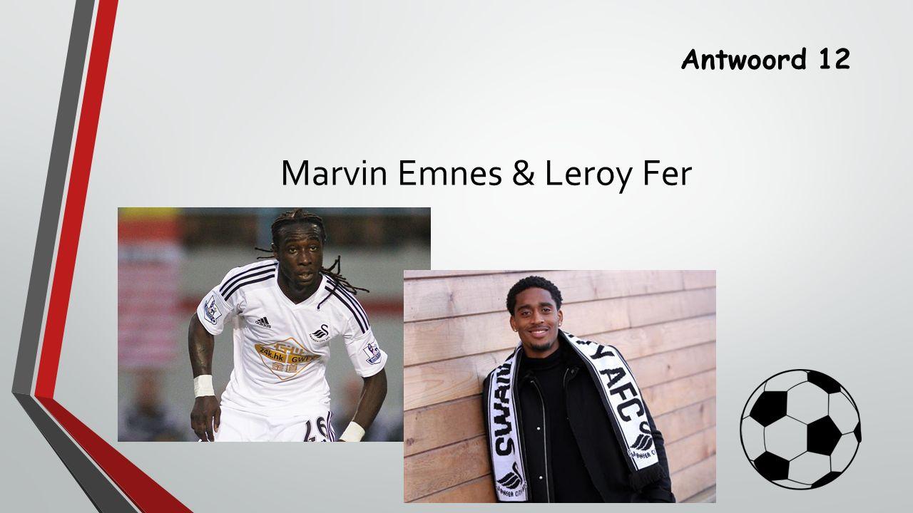 Antwoord 12 Marvin Emnes & Leroy Fer