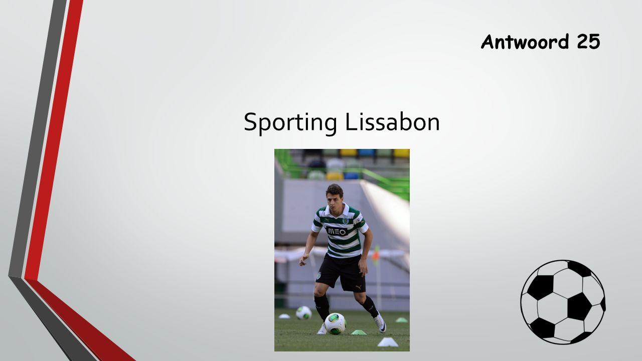 Antwoord 25 Sporting Lissabon