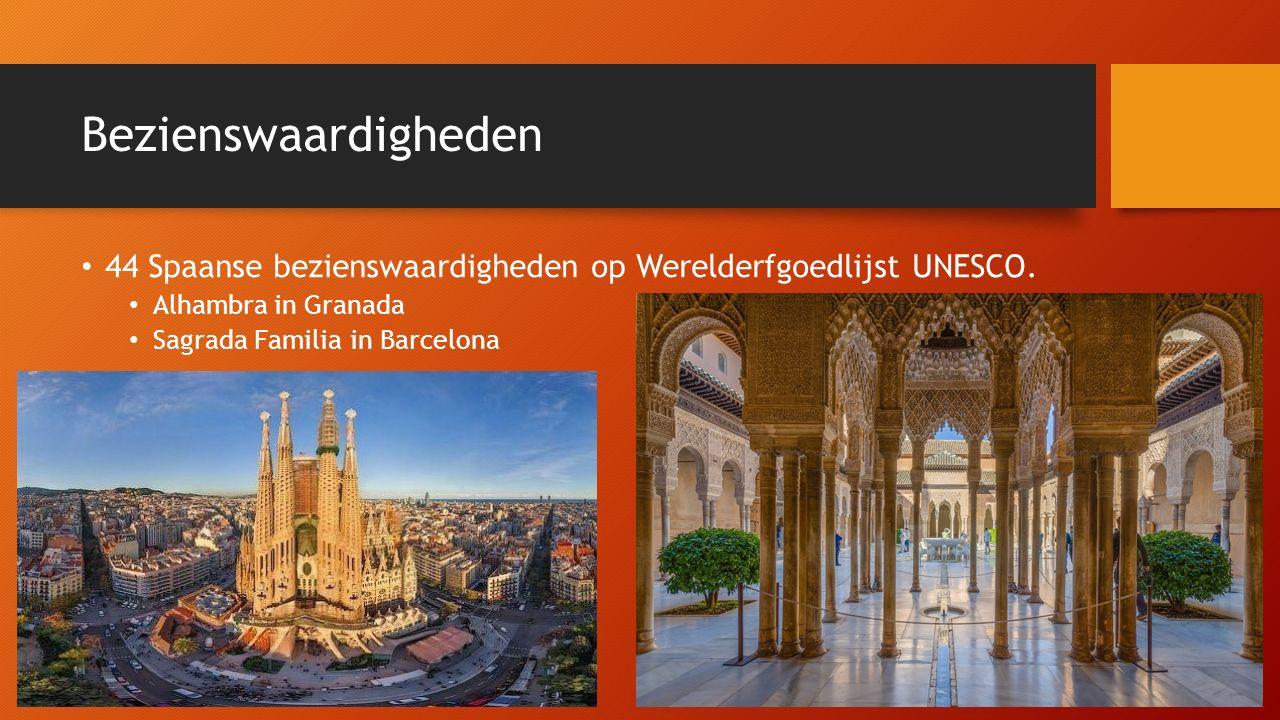 Bezienswaardigheden 44 Spaanse bezienswaardigheden op Werelderfgoedlijst UNESCO.