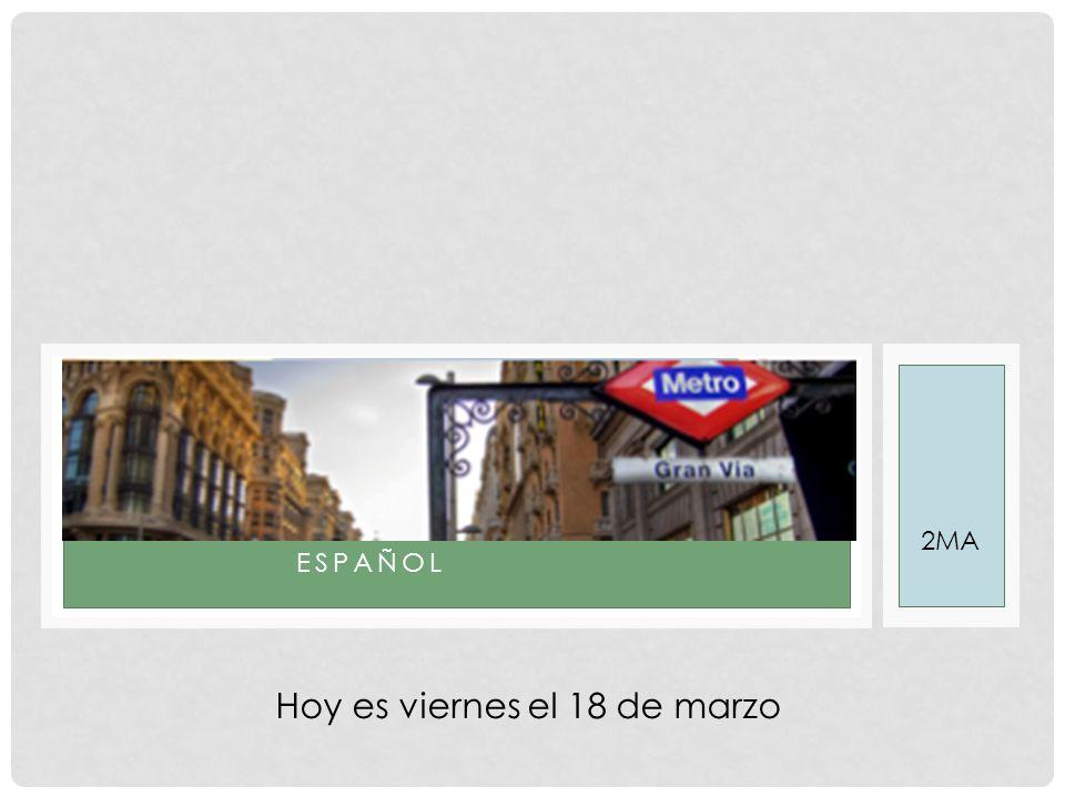 PROGRAMA  Lezen uit 'Pobre Ana' en de vragen maken10  Start U520  Stencil over Madrid (filmpje)  Bron A (ej.