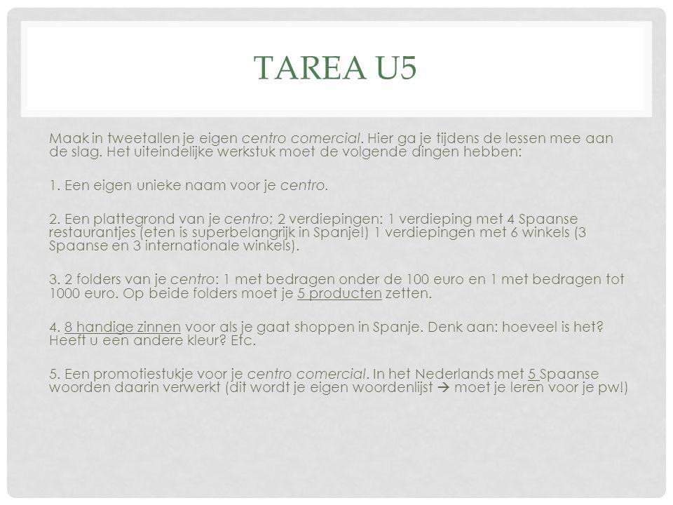 TAREA U5 Maak in tweetallen je eigen centro comercial.
