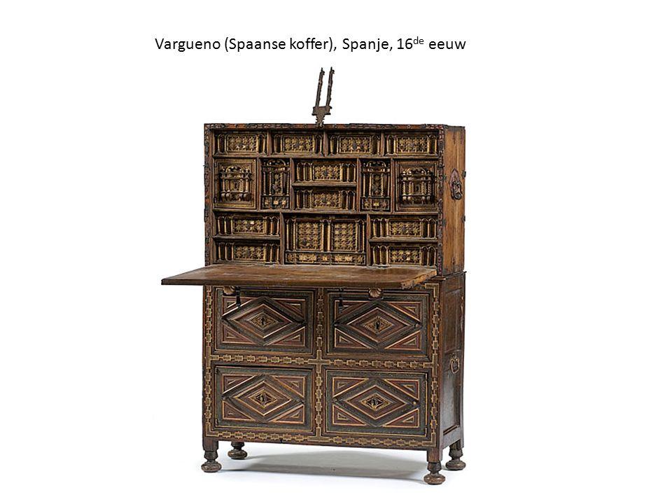Vargueno (Spaanse koffer), Spanje, 16 de eeuw
