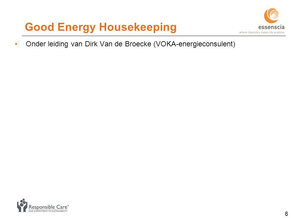 Good Energy Housekeeping Onder leiding van Dirk Van de Broecke (VOKA-energieconsulent) 6