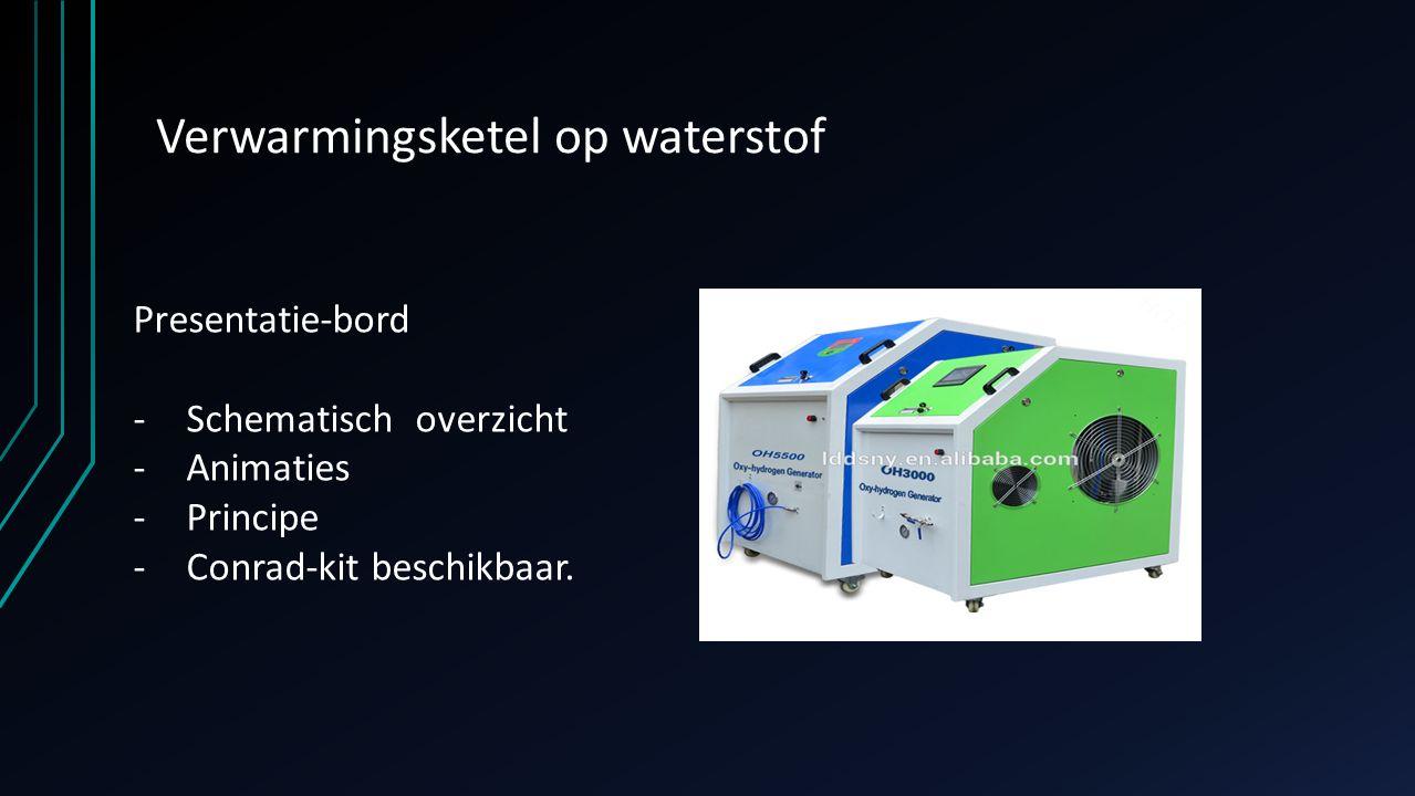Verwarmingsketel op waterstof Presentatie-bord -Schematisch overzicht -Animaties -Principe -Conrad-kit beschikbaar.
