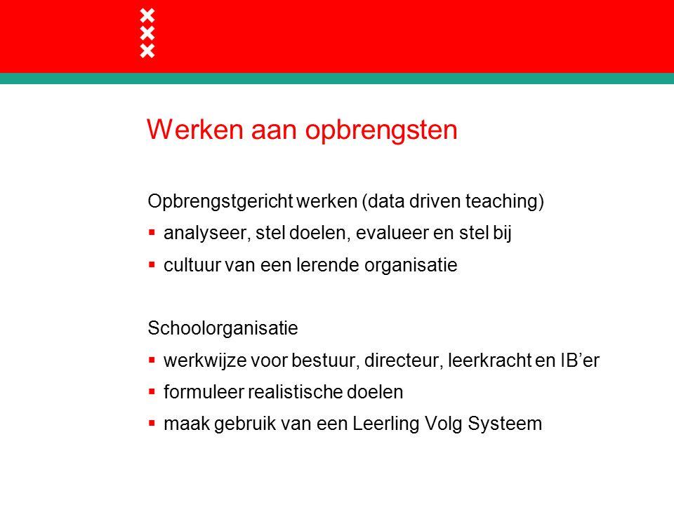 Resultaten: Onderwijsinspectie