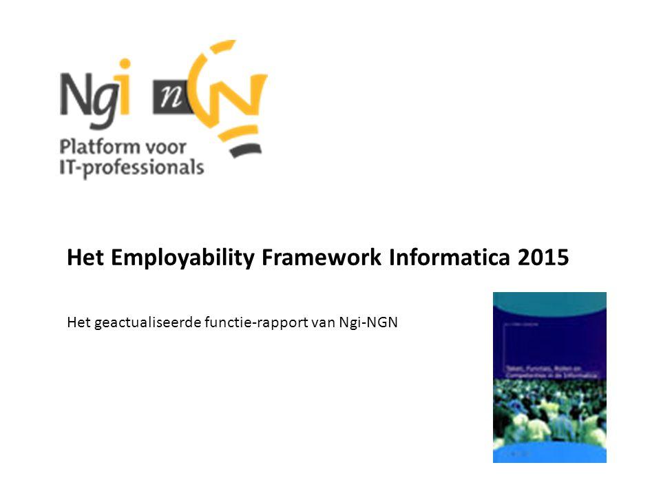 Het Employability Framework Informatica 2015 Het geactualiseerde functie-rapport van Ngi-NGN