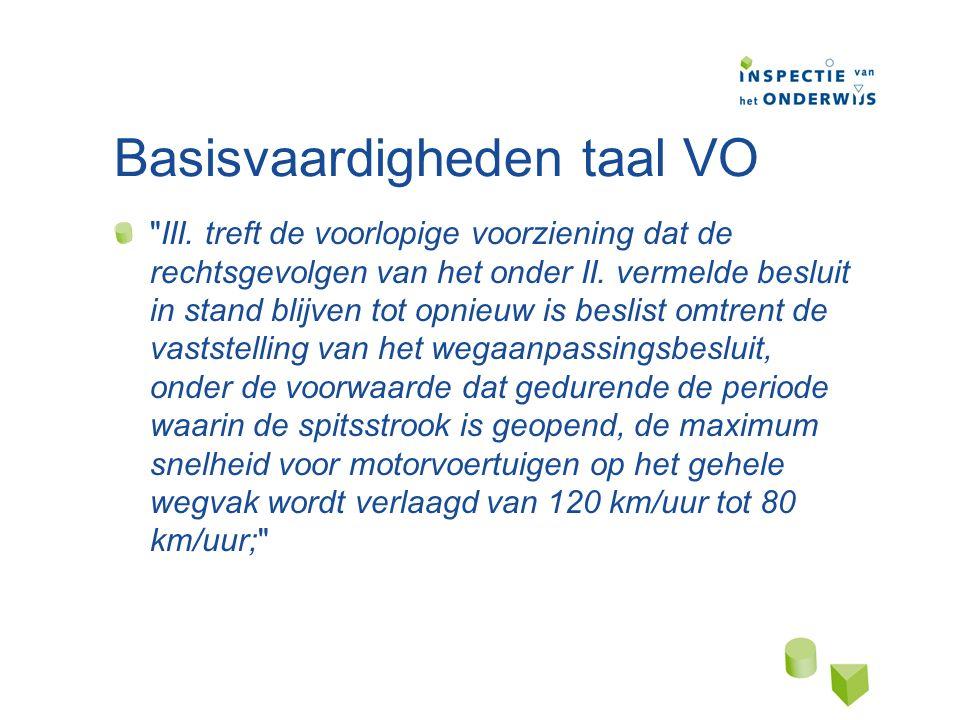 Basisvaardigheden taal VO III.
