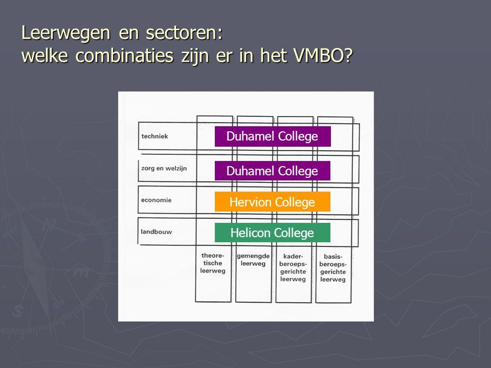 Leerwegen en sectoren: welke combinaties zijn er in het VMBO.