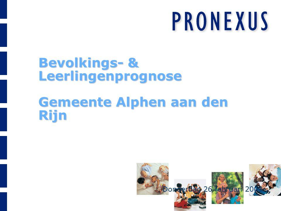 Bevolkings- & Leerlingenprognose Gemeente Alphen aan den Rijn Donderdag 26 februari 2009