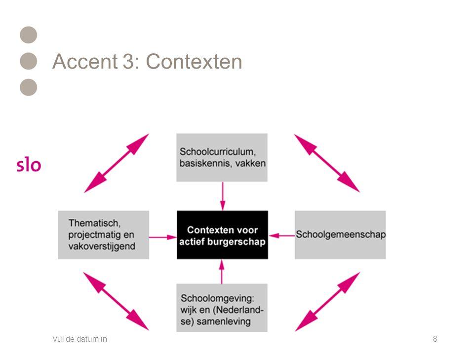 Accent 3: Contexten Vul de datum in8
