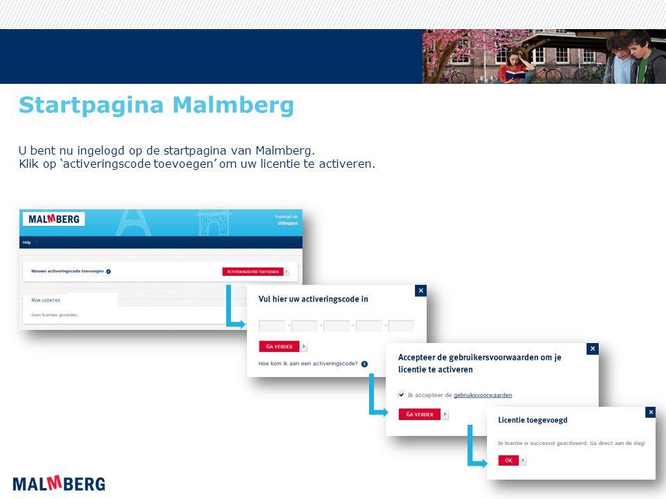 Startpagina Malmberg U bent nu ingelogd op de startpagina van Malmberg.