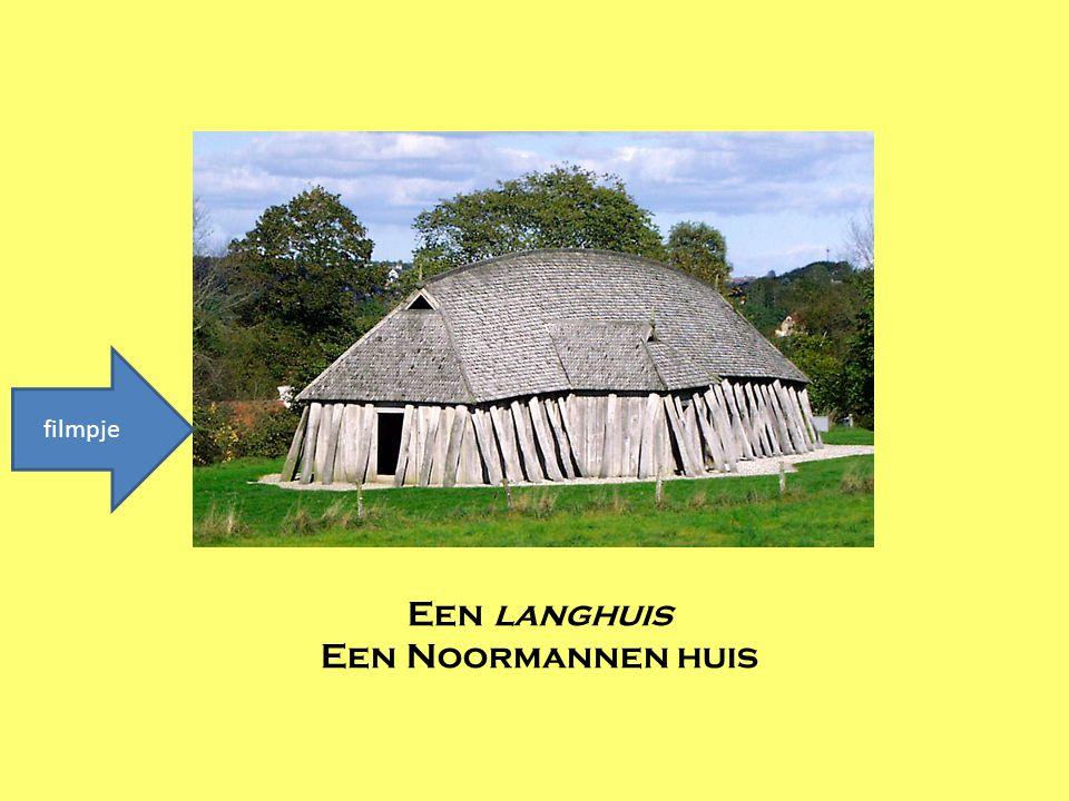 Een langhuis Een Noormannen huis filmpje